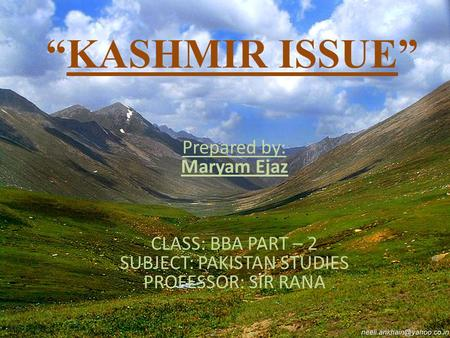 SUBJECT: PAKISTAN STUDIES