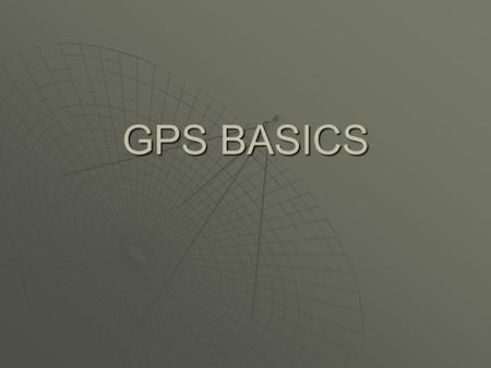 GPS BASICS. What is GPS? Developed by Oklahoma 4-H.