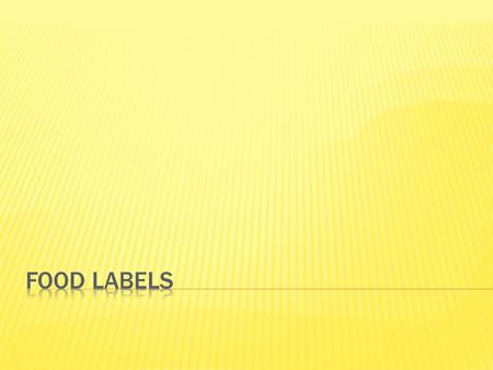  I can analyze information contained on a food label.