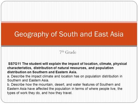 Geography of South and East Asia