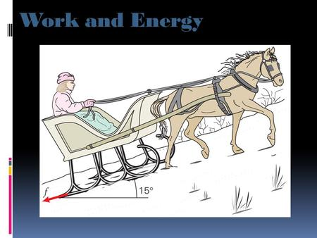 Work and Energy. Work Done by a Constant Force Definition of Work: The work done by a constant force acting on an object is equal to the the displacement.