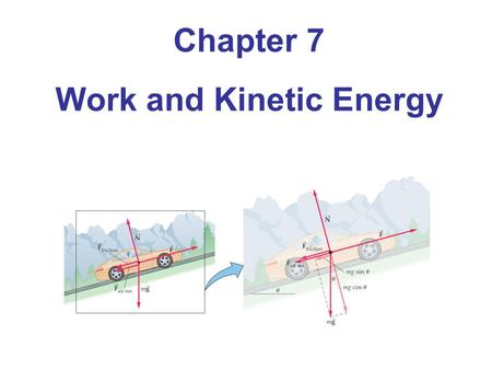 Chapter 7 Work and Kinetic Energy. Units of Chapter 7 Work Done by a Constant Force Kinetic Energy and the Work-Energy Theorem Work Done by a Variable.