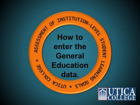 How to enter the General Education data.. Click the Faculty tab at the top right of the UC home page.