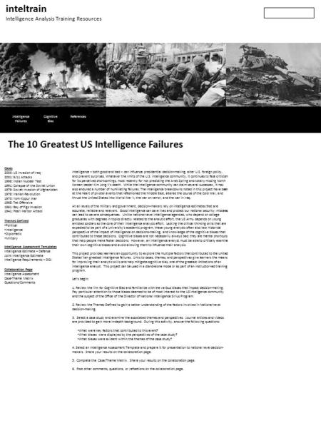 The 10 Greatest US Intelligence Failures