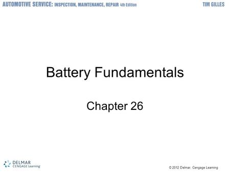 Battery Fundamentals Chapter 26.