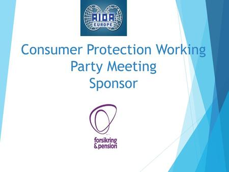 Consumer Protection Working Party Meeting Sponsor.