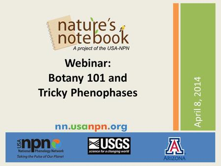 April 8, 2014 Webinar: Botany 101 and Tricky Phenophases.