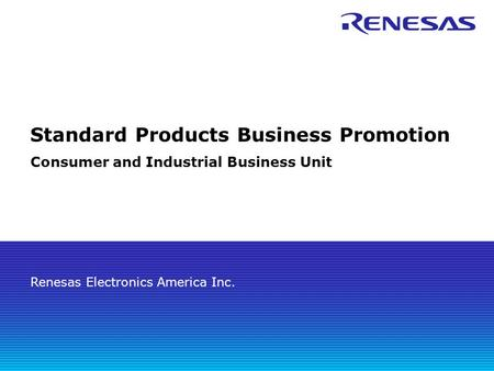 Standard Products Business Promotion