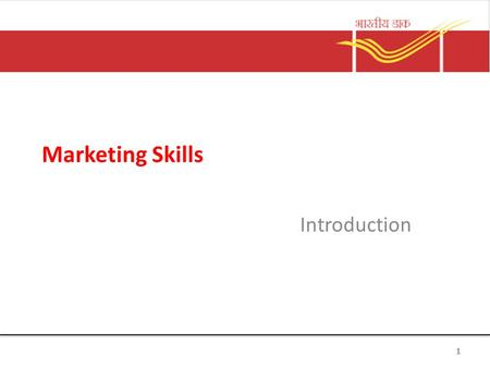 Marketing Skills Introduction 1. What is Marketing? Marketing is the delivery of customer satisfaction at a profit. 2.