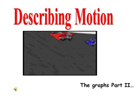 Describing Motion The graphs Part II….