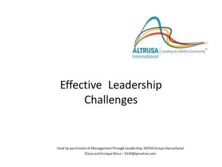 Effective Leadership Challenges