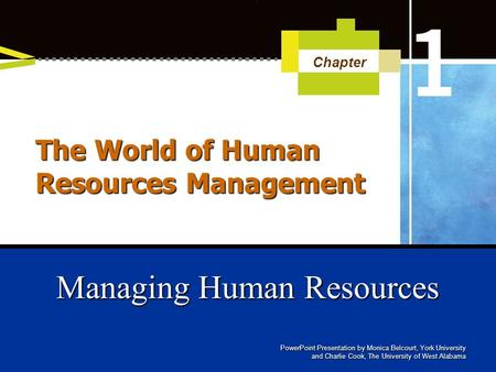 The World of Human Resources Management