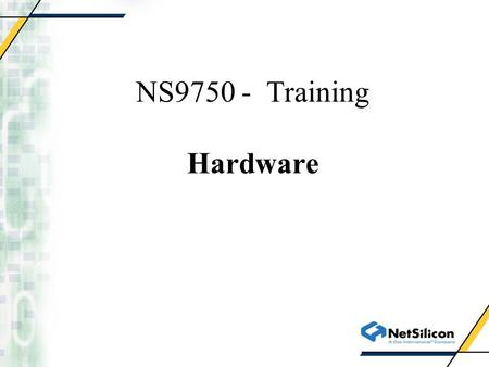 NS9750 - Training Hardware. System Controller Module.
