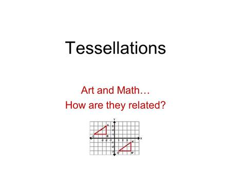Art and Math… How are they related?