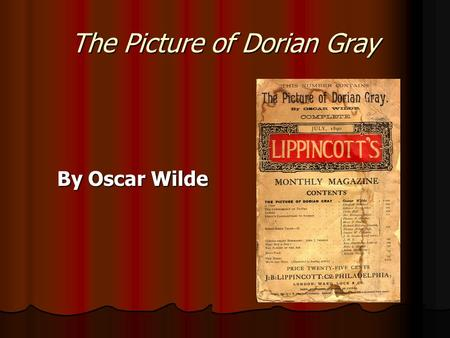 The presentation of victims and villains in the picture of dorian gray by oscar wilde and the little