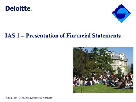 Agenda Objective of the Standard Components of Financial Statements