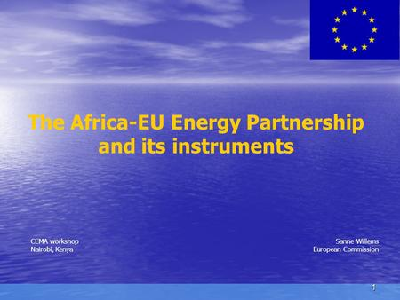 The Africa-EU Energy Partnership