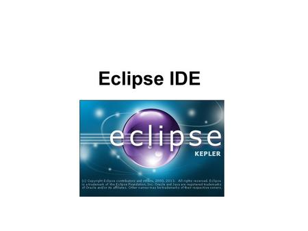 Eclipse IDE. 2 IDE Overview An IDE is an Interactive Development Environment Different IDEs meet different needs BlueJ and DrJava are designed as teaching.