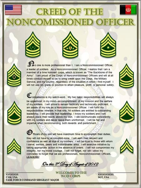 how many words are in the nco creed