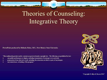 Theories of Counseling: Integrative Theory