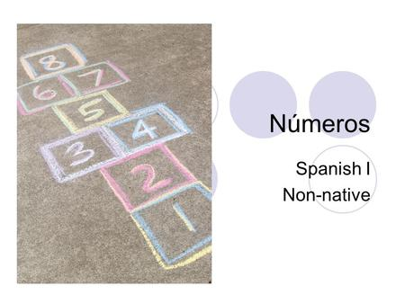Números Spanish I Non-native. uno One Dos two Tres three.