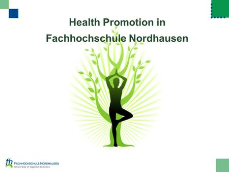 Health Promotion in Fachhochschule Nordhausen. openingdefinitionfacts results 2 health promotion in Fachhochschule Nordhausen lecturer Sheila Fitzgerald.