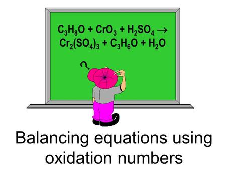 Balancing equations using oxidation numbers