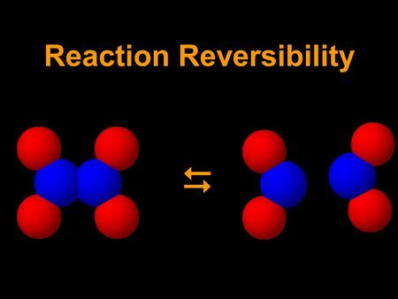Reaction Reversibility. Sample problem (similar to 11 & 12) 2 1 N 2 O 4 (0.20) NO 2 (1.60) N 2 O 4 : first find start and finish, then draw curve Start.