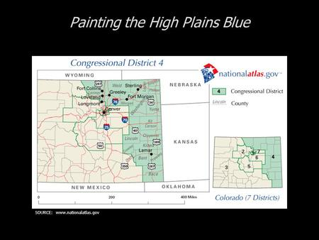 Painting the High Plains Blue SOURCE: www.nationalatlas.gov.