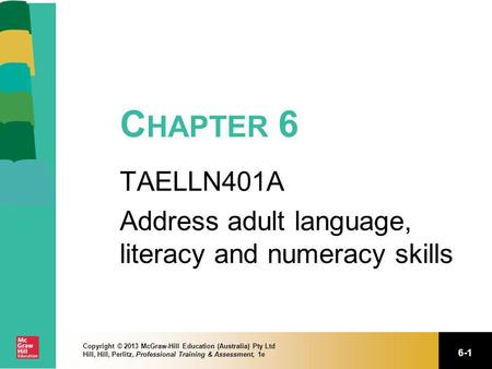 TAELLN401A Address adult language, literacy and numeracy skills