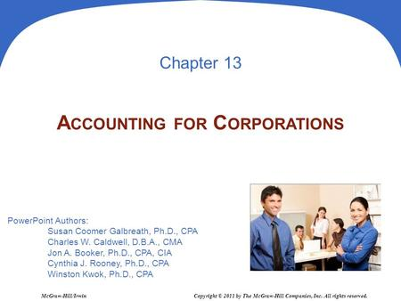 Accounting for Corporations