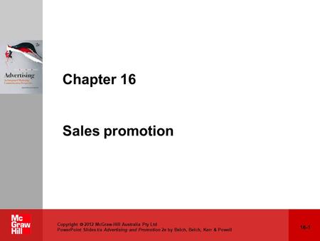 Chapter 16 Sales promotion
