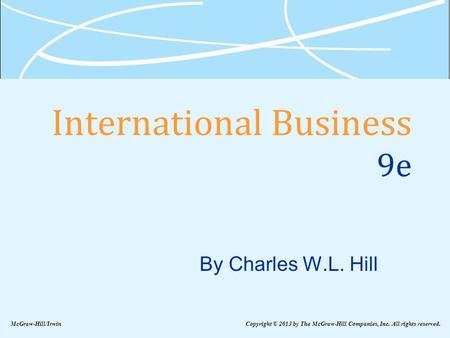 International Business 9e