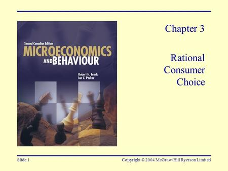 Chapter 3 Rational Consumer Choice
