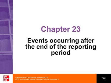 Events occurring after the end of the reporting period