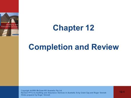 Chapter 12 Completion and Review