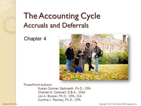 The Accounting Cycle Accruals and Deferrals