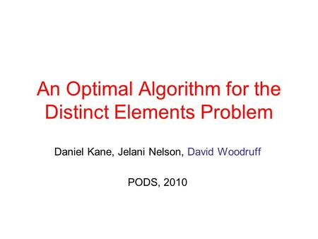 An Optimal Algorithm for the Distinct Elements Problem