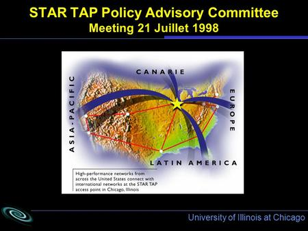 University of Illinois at Chicago STAR TAP Policy Advisory Committee Meeting 21 Juillet 1998.