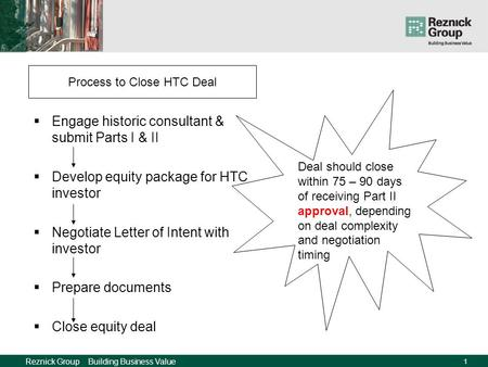 HTC Deal StructuresStep by Step IPED HTC Developers Conference February 8, 2008 Mark Einstein.