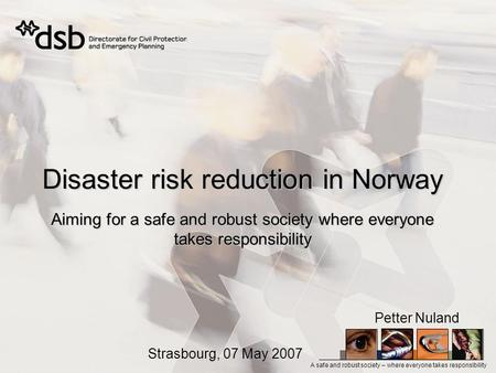 Disaster risk reduction in Norway