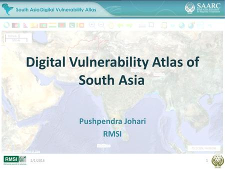 Digital Vulnerability Atlas of South Asia