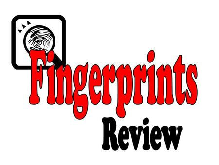 Fingerprints Review.