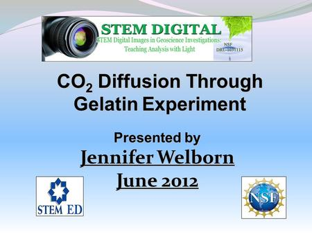 CO2 Diffusion Through Gelatin Experiment