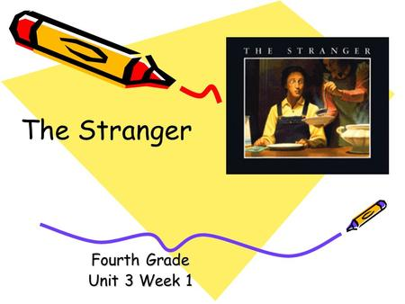 Fourth Grade Unit 3 Week 1 The Stranger Words to Know draft etched fascinated frost parlor terror timid.