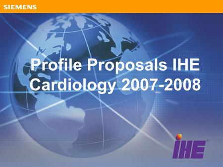 Profile Proposals IHE Cardiology 2007-2008. Proposals Image Enabled Office –Grouping of actors in top half of Scheduled Workflow into Practice Management.