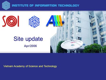 Vietnam Academy of Science and Technology Apr/2006 Site update.