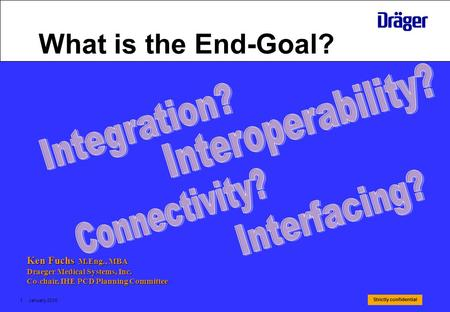 What is the End-Goal? Interoperability? Integration? Connectivity?