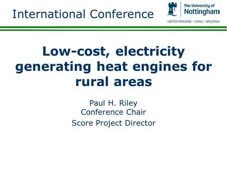 Low-cost, electricity generating heat engines for rural areas