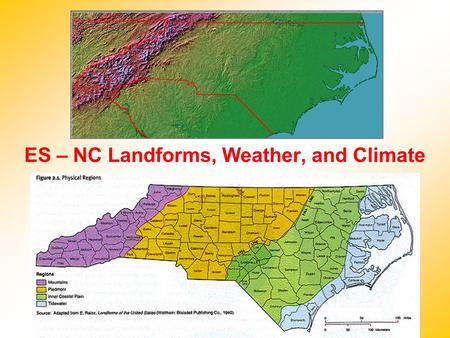 ES – NC Landforms, Weather, and Climate